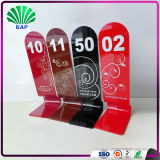 Best Selling Restaurant Number Card Stand Customized Sized Acrylic Waiting Card Holder