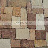 Red color sandstone natural stone piece