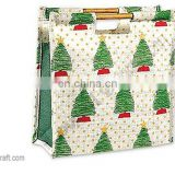 CHRISTMAS TREE JUTE SHOPPING BAG