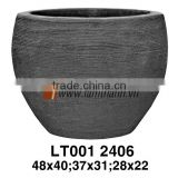 Vietnam Egg Shaped Scratch Terracotta Planter For Manufacturer
