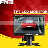 Hot Selling 7inch Color Car Monitor LCD TFT Monitor For Vehicle With 2 Channel Video Input