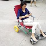 New product Aluminum Frame chair hovercart for 2 wheel hoverboard scooter                                                                         Quality Choice