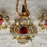 Fashion locket chain pendants manufacturer, costume fashion jewellery rhinestone pendants exporter