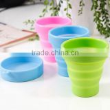 heat resistant portable foldable silicone drinking cup travel cup