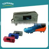 Toprank Custom Logo Printed 600D Polyester Shoe Storage Bag Foldable Travel Shoe Bag Organizer With Strap