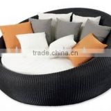 Outdoor Rattan Round Bed