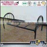 Top quality black hotel metal bed frame steel single bed in dubai