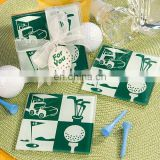 Golf Design Glass Coaster Favors