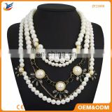 Factory Wholesale Fashion scarf necklaces with beads