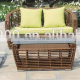 Alu. PE Wicker Sofa Set