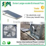 Top quality motor equipped 350 watt solar panel large powerful Industrial exhaust fan
