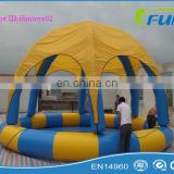 outdoor swimming pool tent/inflatable pool tent/swimming pool cover tent