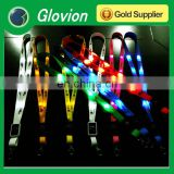 New arrival led flashing lanyards for party ultra-high-bright led light lanyard lanyard glow in dark