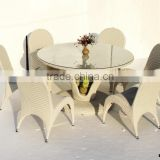 Aluminum Tube and Waterproof Wicker Table and Chairs