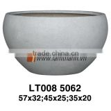 Southern Vietnam Pot Producer Natural Cylinder Round Poly Marbele