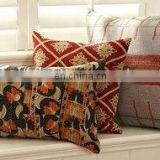 Vintage kantha Pillow Cover Large Pillow Cover Bed Pillow Sari Pillow