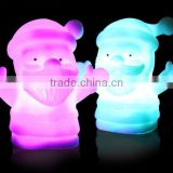 Light up Christmas pvc toys, santa plastic vinyl toys, Eco-friendly hot selling light up toys