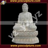 outdoor decoration carved white marble sitting buddha sculpture