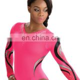 high quality diamond long sleeves female leotards custom design new style