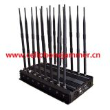 Adjustable 14 Antennas Powerful GSM 3G 4G Phone Blocker & WiFi UHF VHF GPS Lojack All Phone Bands Signal Jammer