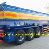 chengli factory supply 35000ltrs carbon steel tri axle oil tanker semi trailer