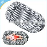 Comfortable cotton cover newborn baby lounger snuggle nest bed