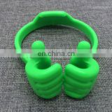 hot promotion novelty funny thumb shaped holder ok stand for universal mobile phone