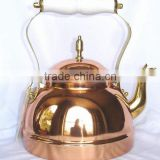 BPA free Solid Copper tea kettle for catering services, Brew kettle, , Portable tea kettle, Stovetop kettle