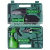 High quality 5pcs garden tools set in plastic case