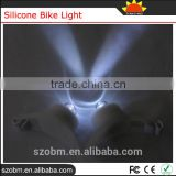 White Bicycle Headlight Silicone Bike Light For Safety Travel