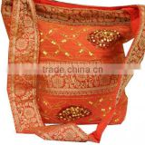 Wholesale <b>handbags</b> india,boho hippie shoulder bags,Book Bag for College,Ethnic <b>Handmade</b> silk <b>Fabric</b> Handbag with