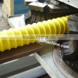 Plastic double wall corrugated pipe making machine