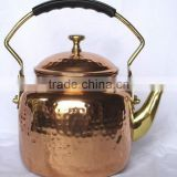 BPA free Pure Copper polished hammered finish kettle for tea, Cute Brew kettle, Unique tea kettle, Portable tea kettle,
