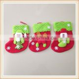 3 Pc Christmas Stockings/Gift Bag Hanging Candy Socks Christmas Tree Decoration