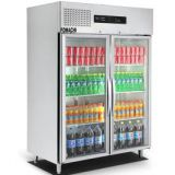 Upright Refrigerator Double Dood Stainless Steel Body Upright Refrigerator FMX-BC362B