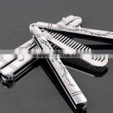 INQUIRY ABOUT Wholesales Sliver Comb Multi function Stainless Steel Trainer Tool Butterfly Comb