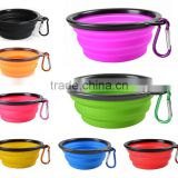 foldable travel pet bowl,colorful collapsible dog bowl