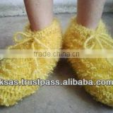 knitted Shoes with Leather base