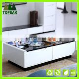 Fashion design living room furniture Tempered glass coffee table tea table teapoy TT-002