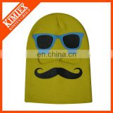 long beanie mask with printing