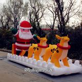 Christmas Supplies Inflatable Santa Claus with Reindeer for Decoration