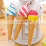 New Style 3d ice cream shape promotional ball pen with magnet