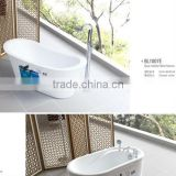 Hot sale flat Acrylic Sitting bathtub screen with mix valve tap BL1007E