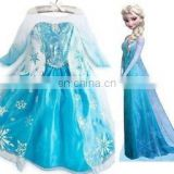 Kids Girls Dresses Elsa Frozen dress costume Princess party dresses FC009