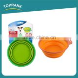 Pet food bowls portable travel feeding collapsible silicone pet bowl