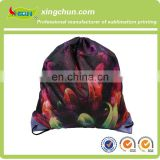 210D polyester fabric kids school drawstring backpack