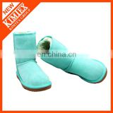 suede & artificial wool half snow boots wholesale