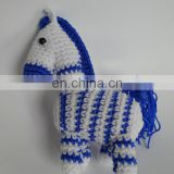 Hot-saleing stuffed woven fabric, with knit and crochet fabricsKnit Horse, Hand Crochet Animal Toys