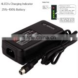 <b>LCD</b> <b>display</b> and rechargeable 12V AGM <b>battery</b> charger