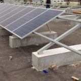 solar roof mounting system for flat concrete roof